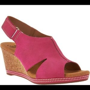 NWT Clarks Helio Float Espadrille Wedge